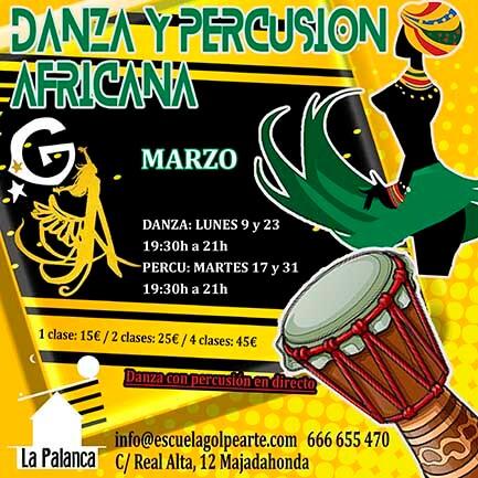 taller danza africana y percusión africana